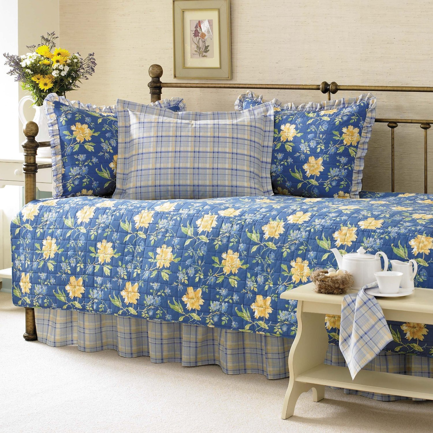 3. Laura Ashley 5-Piece Emilie Daybed Cover Set