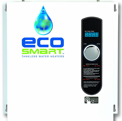 7. Ecosmart ECO 27 Electric Tankless Water Heater, 27 KW at 240 Volts with Patented Self Modulating Technology