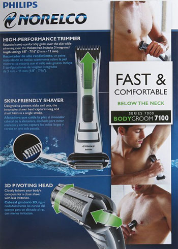 8. Dual-sided shaver and trimmer