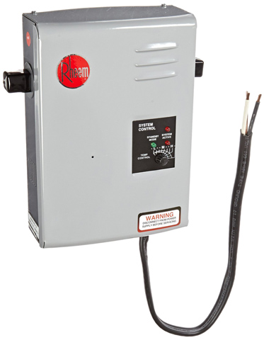 2. Rheem RTE 13 Electric Tankless Water Heater, 4 GPM