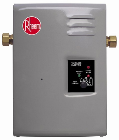8. Rheem RTE 9 Electric Tankless Water Heater, 3 GPM
