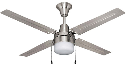 10. BALA Ceiling Fan with Disc Light Kit