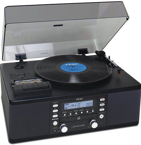 10. Teac LP-R550USB CD Recorder with Cassette Turntable