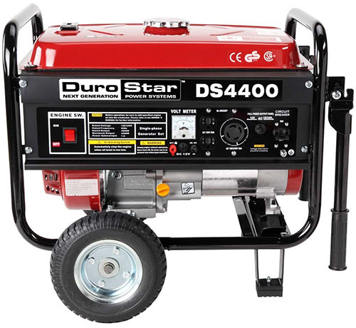 8. DuroStar DS4400 Gas Powered Portable Generator