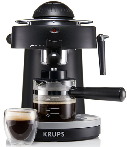 5. KRUPS XP1000 Steam Espresso Machine with Frothing Nozzle