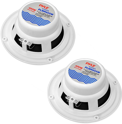 10. Dual 6.5'' Waterproof Marine Speakers