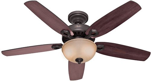 1. Hunter Deluxe 5-Blade Single Light Ceiling
