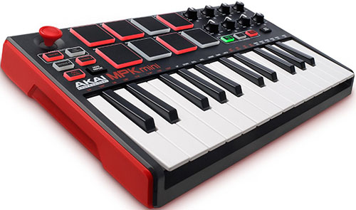 6. Akai Professional MPK Mini MKII - 25-Key Ultra-Portable USB MIDI Drum Pad & Keyboard