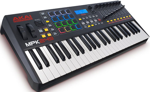3. Akai Professional MPK249 49-Key USB MIDI Drum Pad and Keyboard