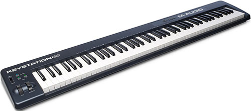 9. M-Audio Keystation 88 II 88-Key USB MIDI Keyboard Controller