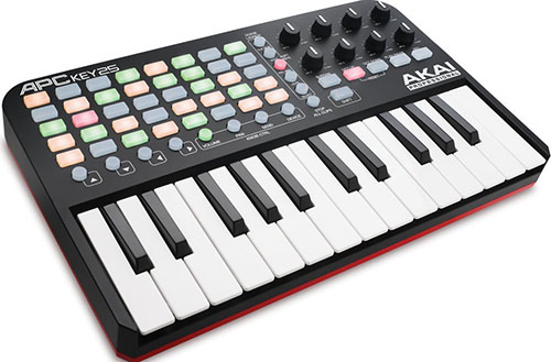 4. Akai Professional APC Key 25 Ableton Performance Controller with Keyboard