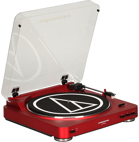 5. Audio Technica AT-LP60RD Fully Automatic Stereo Turntable System, Red