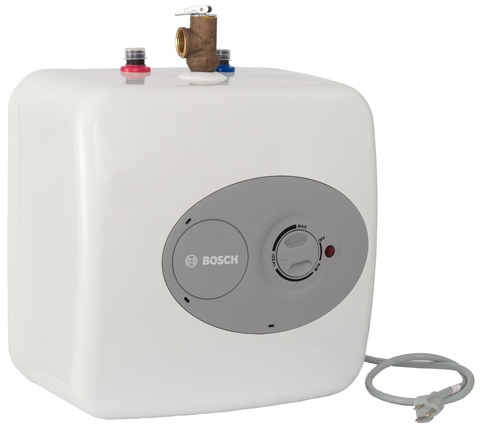 3. BOSCH T 2.7-Gallon Electric Mini-Tank under Sink Water Heater