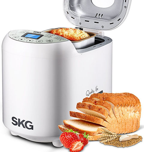 10. SKG Automatic 2-LB Bread Maker