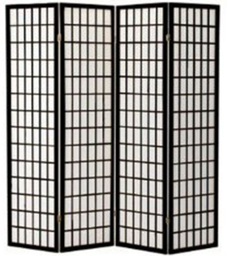 4. Legacy Decor Room Divider, Black