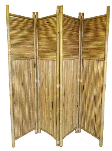 9. Bamboo 4 Panel Screen
