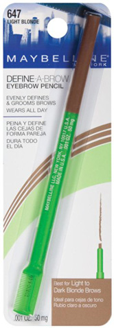 6. Maybelline New York Define-A-Brow Eyebrow Pencil, 643 Medium Brown
