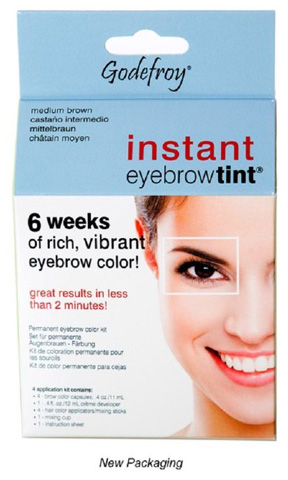 8. Godefroy Instant Eyebrow Tint Permanent Eyebrow Colour Kit – Medium Brown