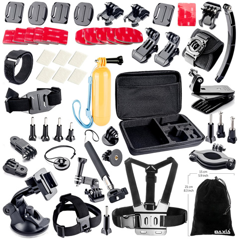 8. BAXIA TECHNOLOGY Accessories Kit for GoPro HERO 4 3+ 3 2 1 Cameras