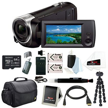 9. Sony HD Video Recording HDRCX405 Handycam Camcorder