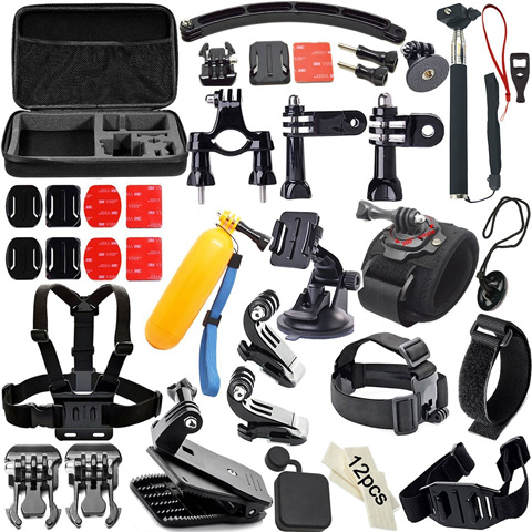 3. Soft Digits 50-In-1 Accessories Kit for GoPro Hero4/3/2/1;