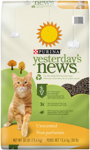 4. Yesterday's News Cat Litter