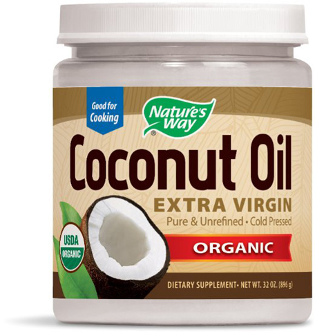 9. Nature's Way Virgin Organic Coconut Oil, 32 oz
