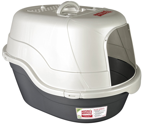 2. Nature's Miracle Oval Hooded Litter Box