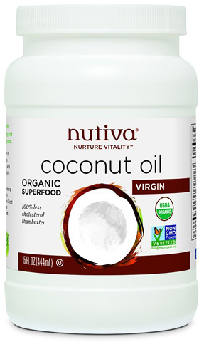 6. Nutiva Organic Coconut Oil, 15 Ounce