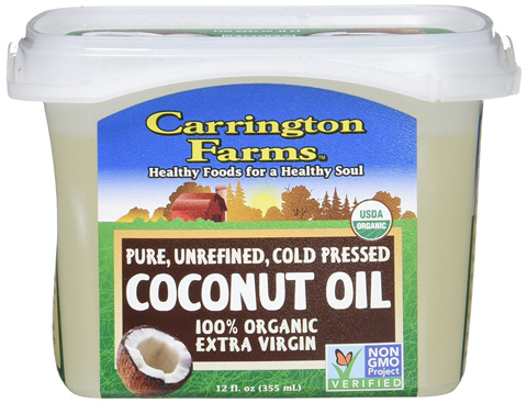 5. Carrington Organic Extra Virgin Coconut Oil