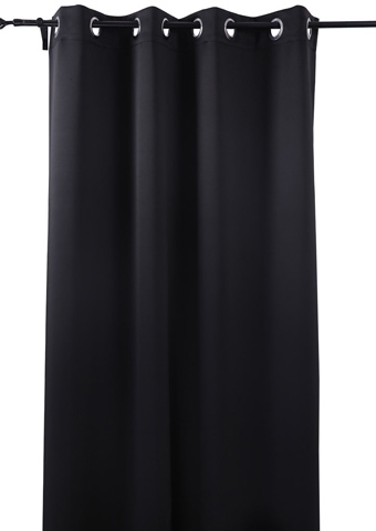 7. Deconovo Black Blackout Panel Curtain