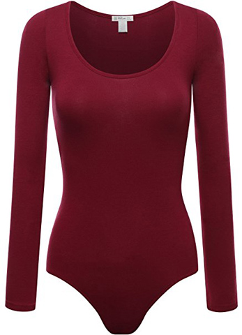 6. FPT Womens Basic Long Sleeve Bodysuit