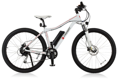 10. Freway 27 Speed Electric Motor Mountain Bicycle