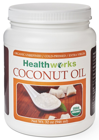 1. Healthworks Coconut Oil Cold Pressed, 32 Ounce