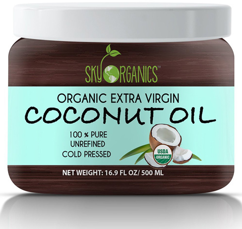 8. Organic Coconut Oil by Sky Organics 16.9 oz