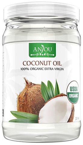 3. Anjou Coconut Oil, Organic Extra Virgin