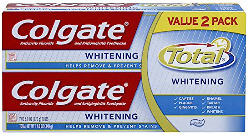 10.Total Whitening Toothpaste Twin Pack