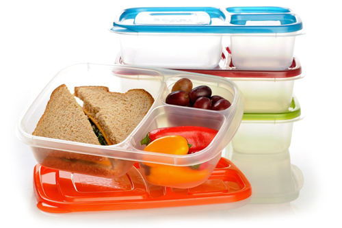 10. 3-Compartment Bento Lunch Box Containers
