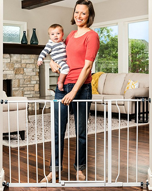 8. Regalo Easy Open 50 Inch Wide Baby Gate