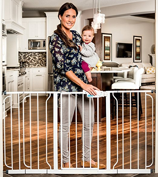 5. Regalo Extra WideSpan Walk Through Safety Gate