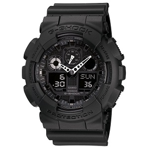 6. G-SHOCK The GA 100 Military Series Watch in Black,Watches for Men