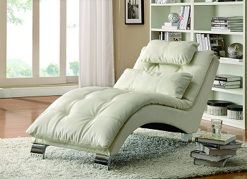 5. Coaster home Furnishing Contemporary Chaise: