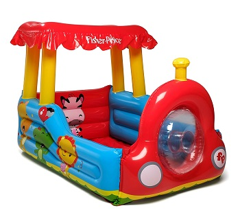 5. Fisher Price Train Inflatable Ball Pit