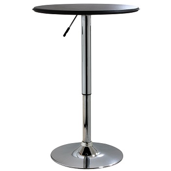 4. AmeriHome 25-Inch Adjustable, Bar Table