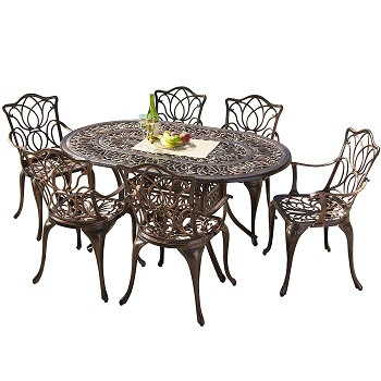 8. Gardena Cast Aluminum Set