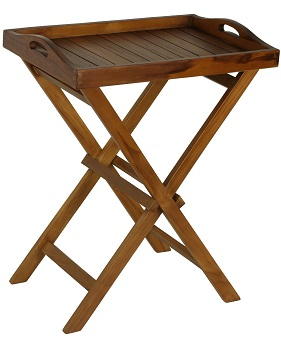 8. Bare Décor- Kalos Outdoor Teak Wood Tray Table