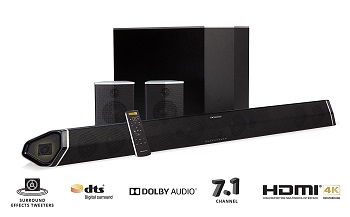 1.Nakamichi Shockwafe Pro 7.1 Sound Bar