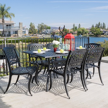 7. Marietta Cast Aluminum Dining Set