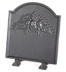 3. Cast Iron Fireback With Oak Leaf Design