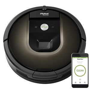 3. iRobot Roomba 980 Robot Vacuum with WIFI Connection.